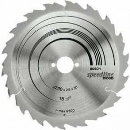 Диск пильный Bosch 230х30мм 18зубьев Speedline Wood (2.608.640.804)