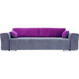 Диван прямой SettySet Комо серо-фиолетовый