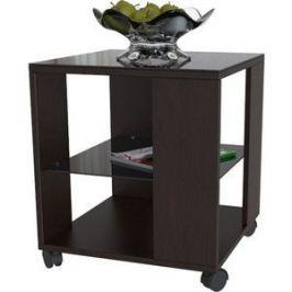 Стол журнальный Мебелик BeautyStyle 6 венге/стекло черное