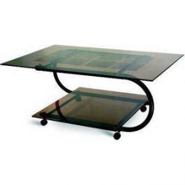 Стол журнальный Мебелик Дуэт 10 черный/тонированное