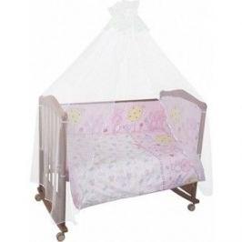 Комплект в кроватку Сонный Гномик Акварель 4 предмета розовый (КСА4-0569406/2)