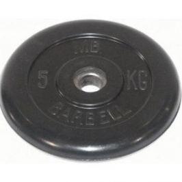 Диск обрезиненный Barbell 51 мм. 5 кг.