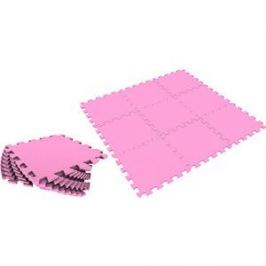 Мягкий пол Eco-cover универсальный 33х33 см розовый 9 деталей УТ000000468