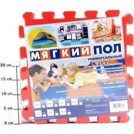 Мягкий пол Eco-cover универсальный 33х33 см красный 9 деталей УТ000000466