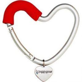 Крепление для сумок Buggygear (Багги Гир) Сердечко silver/red