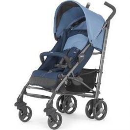 Коляска трость Chicco Lite Way Top Stroller цвет Blue с бампером