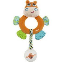 Игрушка погремушка Chicco мягкая Бегемот Hippo (7200)