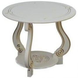 Стол журнальный Мебелик Грация (М) слоновая кость
