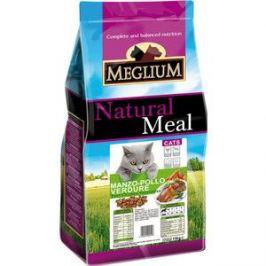 Сухой корм MEGLIUM Natural Meal Cat Adult Chicken, Beef & Vegetables с курицей, говядиной и овощами для взрослых кошек 3кг (MGS0103)