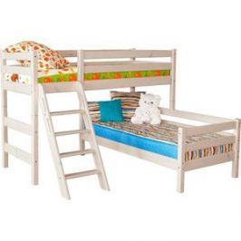Детская угловая кровать Мебельград Соня с наклонной лестницей вариант 8