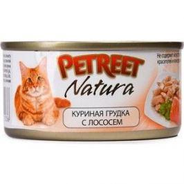 Консервы Petreet Natura куриная грудка с лососем для кошек 70г