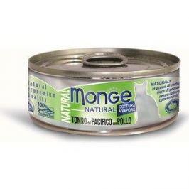 Консервы Monge Cat Natural Pacific Tuna with Chicken с тихоокеанским тунцом и курицей для кошек 80г