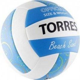 Мяч волейбольный Torres любительский (для пляжа) Beach Sand Blue арт. V30095B, размер 5, бел-голуб-мультиколор