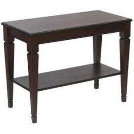 Стол журнальный Мебелик Васко В 84Н темно-коричневый/патина