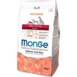 Сухой корм Monge Speciality Line Adult Dog Mini Salmon and Rice с лососем и рисом для взрослых собак мелких пород 800г