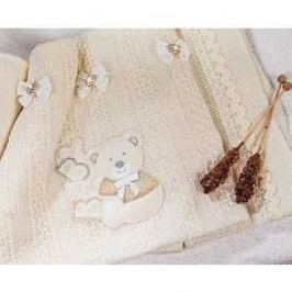 Плед PICCI шерсть Muffin Ribbons кремовый I36L97-09