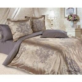 Комплект постельного белья Ecotex Евро, сатин-жаккард, Карингтон (4680017866989)