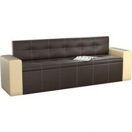 Кухонный диван АртМебель Династия эко-кожа коричнево-бежевый