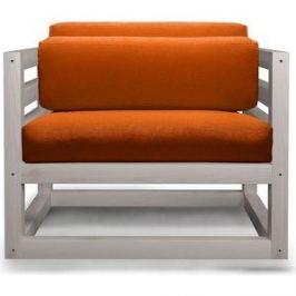 Кресло Anderson Магнус бел дуб-оранжевый вельвет.