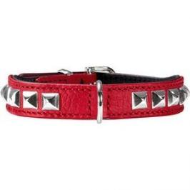 Ошейник Hunter Collar Rocky petit 30 nickel (23-27см) кожа красный для собак