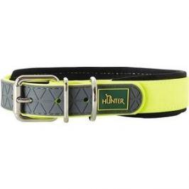 Ошейник Hunter Convenience Comfort 55 neongelb (42-50см) биотановый мягкая горловина желтый неон для собак