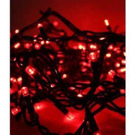 Гирлянда Light Светодиодная нить 10 м красная 220V чёрный провод (мерцание 100 процентов)