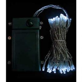 Гирлянда светодиодная Light Нить на батарейках 5 м белая 4,5V прозрачный провод