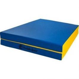 Мат PERFETTO SPORT № 10 (100 х 150 х 10) складной (1 сложение) сине-жёлтый