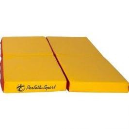 Мат PERFETTO SPORT № 11 (100 х 100 х 10) складной (4 сложения) красно-жёлтый