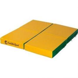 Мат PERFETTO SPORT № 11 (100 х 100 х 10) складной (4 сложения) зелёно-жёлтый