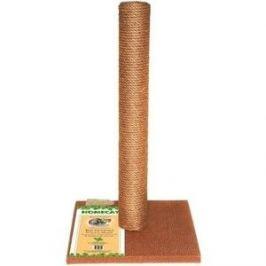 Когтеточка HomeCat столбик ковролин джут коричневая для кошек (410х410х630)