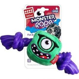 Игрушка GiGwi Dog Toys Squeak Monster Rope монстр с резиновой веревкой для собак (75434)