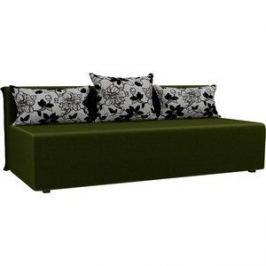 Прямой диван Лига Диванов Кесада микровельвет зеленый