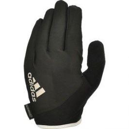 Перчатки для фитнеса Adidas Essential ADGB-12421WH (с пальцами) черно/белые р. S