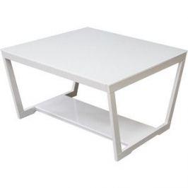 Стол журнальный Мебелик BeautyStyle 1 белый глянец/стекло белое