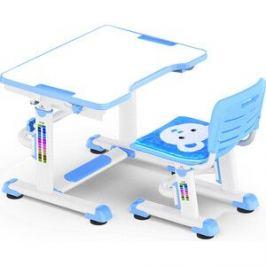 Комплект мебели (столик+стульчик) Mealux BD-09 Teddy blue столешница белая/пластик голубой