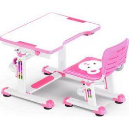 Комплект мебели (столик+стульчик) Mealux BD-09 Teddy pink столешница белая/пластик розовый