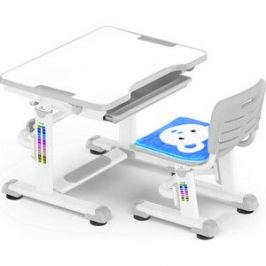 Комплект мебели (столик+стульчик) Mealux BD-08 Teddy gray столешница белая/пластик серый