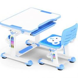 Комплект мебели (столик+стульчик) Mealux BD-08 Teddy blue столешница белая/пластик синий