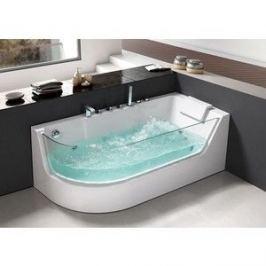 Акриловая ванна Grossman 170x80 с каркасом, гидромассажная, правая (GR-17000R)