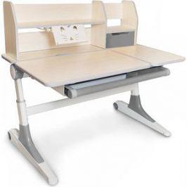 Стол Mealux Ontario grey Evo-600 WG столешница клен дерево/ножки белые с серым
