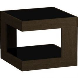 Журнальный стол MetalDesign Смарт MD 746.02.01 корпус-венге/ стекло-черный