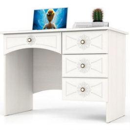 Стол письменный однотумбовый с 4 ящиками Мебельный двор Онега белая МД-1-06 белый
