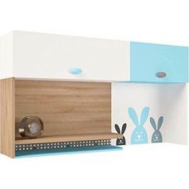 Надстройка на стол/навесная полка ABC-KING Mix bunny голубой правый