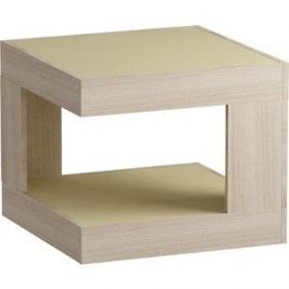 Журнальный стол MetalDesign Смарт MD 746.05.10 корпус-ясень светлый/ стекло-крем