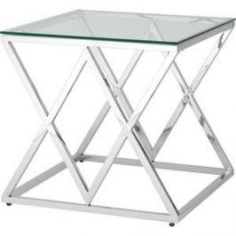 Журнальный стол Stool Group Инсигния прозрачное стекло/сталь серебро EET-026