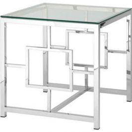 Журнальный стол Stool Group Бруклин прозрачное стекло/сталь серебро EET-013