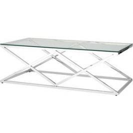Журнальный стол Stool Group Инсигния прозрачное стекло/сталь серебро ECT-026