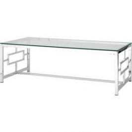 Журнальный стол Stool Group Бруклин прозрачное стекло/сталь серебро ECT-013