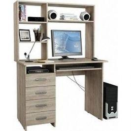 Стол компьютерный Мастер Милан-3 с надставкой дуб сонома М-3Н-ДС